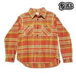 【BLUCO】OVERDYE NEL SHIRTS カラー:red OL-048-016 【ブルコ】【スケートボード】【シャツ/長袖】
