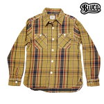 【BLUCO】OVERDYE NEL SHIRTS カラー:brown OL-048-016 【ブルコ】【スケートボード】【シャツ/長袖】