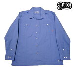 【BLUCO】STANDARD WORK SHIRTS カラー:blue OL-109 【ブルコ】【スケートボード】【シャツ/長袖】
