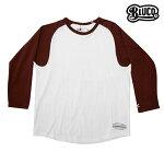 【BLUCO】RAGLAN SLEEVE SHIRTS カラー:white/burgundy OL-703 【ブルコ】【スケートボード】【長袖/ロンティー】