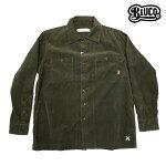 【BLUCO】CORDUROY WORK SHIRTS L/S カラー:m.green OL-109c-017 【ブルコ】【スケートボード】【シャツ/長袖】