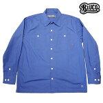 【BLUCO】STD WORK SHIRTS L/S カラー:sax OL-109-017 【ブルコ】【スケートボード】【シャツ/長袖】