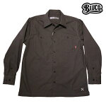 【BLUCO】STD WORK SHIRTS L/S カラー:gray OL-109-017 【ブルコ】【スケートボード】【シャツ/長袖】
