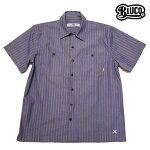 【BLUCO】STD WORK SHIRTS S/S カラー:navy stripe OL-108-017 【ブルコ】【スケートボード】【シャツ/半袖】
