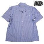 【BLUCO】STD WORK SHIRTS S/S カラー:blue stripe OL-108-017 【ブルコ】【スケートボード】【シャツ/半袖】