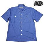 【BLUCO】STD WORK SHIRTS S/S カラー:sax OL-108-017 【ブルコ】【スケートボード】【シャツ/半袖】