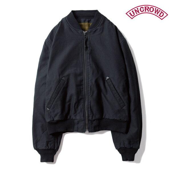 【UNCROWD】BOMBER JACKETUC-112-018カラー:black【アンクラウド/ブルコ】【スケートボード】【ジャケット】