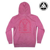 【WELCOME skateboards】MAKER PIGMENT Dyed Hoodie カラー:red/red 【ウェルカム】【スケートボード】【パーカー/プルオーバー】