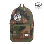 【HERSCHEL×INDEPENDET】PACKABLE TRAVEL DAYPACK カラー:woodland camo independent【ハーシェル】【インデペンデント】【スケートボード】【バッグ】