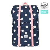 【HERSCHEL】RETREAT YOUTH カラー:peacoat polka dot/strawberry ice rubber【ハーシェル】【スケートボード】【バッグ/子供用】
