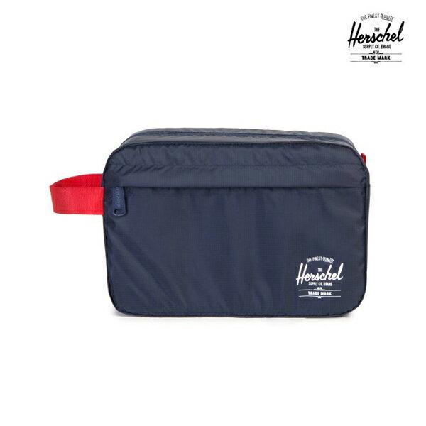 【HERSCHEL】TOILETRY BAG カラー:navy/red 【ハーシェル】【スケートボード】【バッグ】