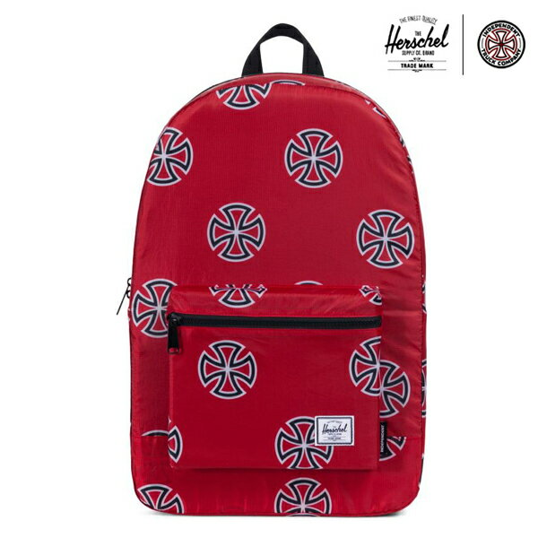 【HERSCHEL×INDEPENDENT】PACKABLE DAYPACK カラー:red 【ハーシェル】【スケートボード】【バッグ】
