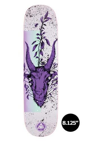 【WELCOME skateboards】GOATHEAD white/purple AMULET 【ウェルカム】【スケートボード】【デッキ】【8.125インチ】選べる無料のデッキテープ付き!