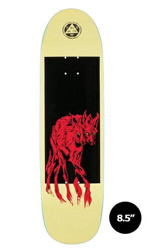 【WELCOME skateboards】MANED WOOF pale/yellow PYSANKA 【ウェルカム】【スケートボード】【デッキ】【8.5インチ】選べる無料のデッキテープ付き!