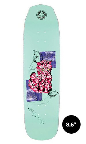 【WELCOME skateboards】Nora Vasconcellos LOO DOOD teal WICKED QUEEN 【ウェルカム】【スケートボード】【デッキ】【8.6インチ】選べる無料のデッキテープ付き!