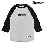 【instant】OG LOGO RAGLAN tee カラー:gray/black 【instant】【インスタント】【スケートボード】【ラグラン/七分】