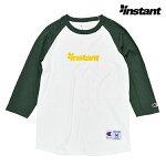【instant】OG LOGO RAGLAN tee カラー:white/dark green 【instant】【インスタント】【スケートボード】【ラグラン/七分】