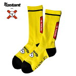 【SSP SLAPPY×instant】25TH ANNIVERSARY SOCKS カラー:yellow エスエスピー スラッピー 靴下 ソックス スケートボード スケボー SKATEBOARD