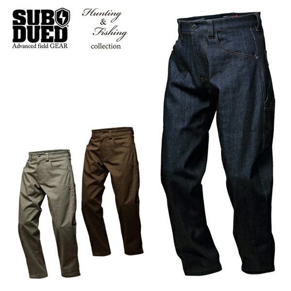【SUBDUED】FAST DRAW PANTS カラー:indigo / ash grey / walnut【サブデュード】【スケートボード】【パンツ】