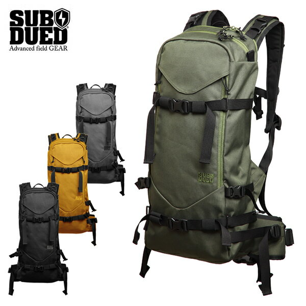 【SUBDUED】REAPER BACKPACK カラー:black / charcoal / olive / mustard 【サブデュード】【スケートボード】【バッグ】