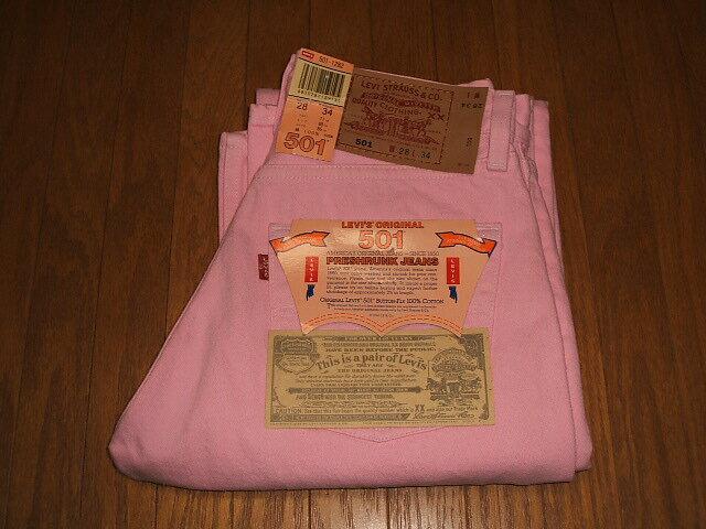 メンズファッション, ズボン・パンツ LEVIS() 501 Color Pants Pink( ) Lot 501-1282 MADE IN USA() 1990 W28L34