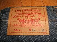 LEVIS(リーバイス)5011980年代MADEINUSA(アメリカ製)実物デッドストックビッグサイズW42×L31