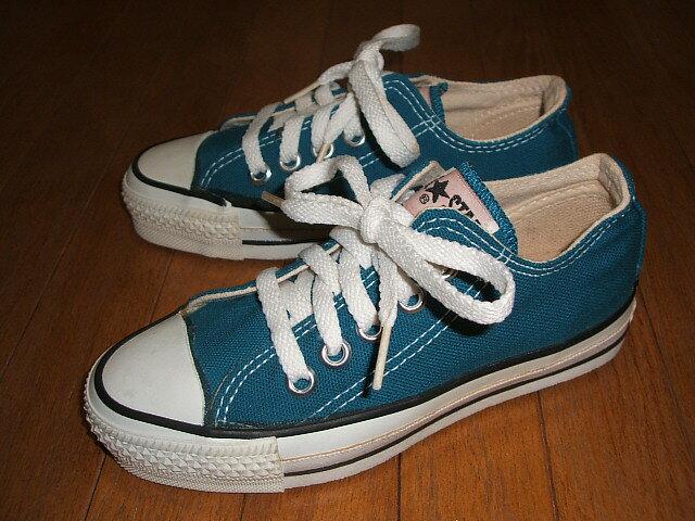 メンズ靴, スニーカー CONVERSE() ALL STAR() Low() Kids( 15.5cm 17cm 18cm 19cm 20cm) Turquoise Blue() MADE IN USA() 1990