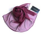 上質シルク濃赤紫スカーフ