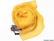 スカーフ ストール マフラー シフォン オレンジ ビビッドイエロー ひまわり たんぽぽ コンパクト パーティー