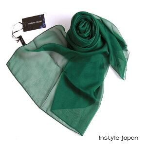 スカーフ ストール マフラー シフォン クリスマス グリーン コンパクト パーティー