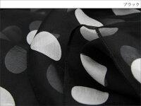 スカーフシルク100%大判ストールマフラーシフォン【ブラックホワイトドット(大)B】黒白ブラックホワイト水玉ドット大粒絹天然素材敏感肌紫外線防止UV防寒コンパクトパーティードレス【Bサイズ:195×65cm】送料無料