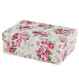 【収納ボックス】【おしゃれ】収納BOX M ボタニカルローズ ギフトボックス