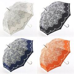 【日傘】【晴雨兼用】【uvカット】晴雨兼用傘 レース柄 ジャンプ傘
