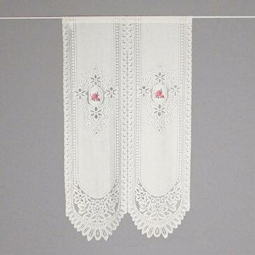 【のれん】【ロング丈】のれん バテンレース バラ刺繍 150cm