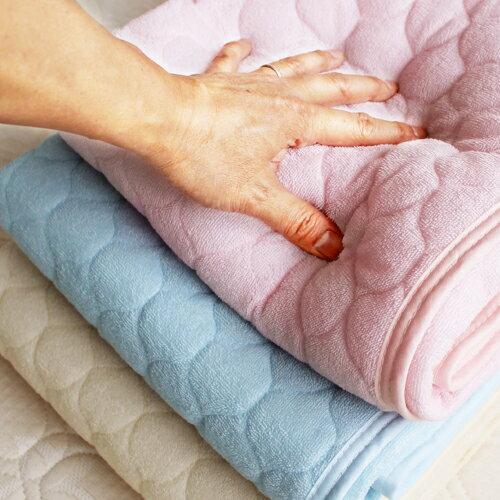 綿素材やわらかパイルタオル地敷きパッドシーツ(セミダブルサイズ)