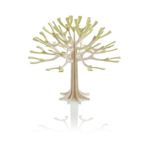北欧雑貨【LOVI】ロヴィシーズンツリー・12cm/ナチュラルウッド+ペールグリーン / グリーティングカード (組み立て式)