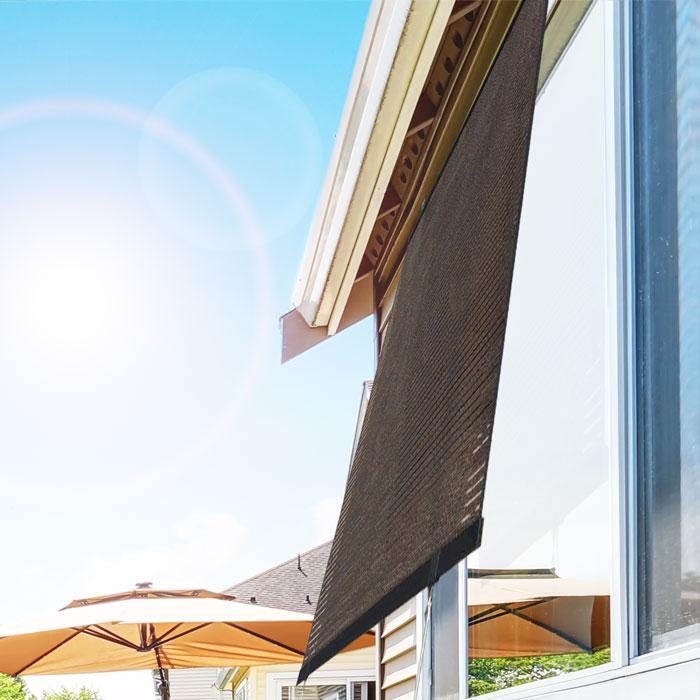 省エネスクリーン 省エネ スクリーン すだれ ターフ 遮熱 遮光 生地 窓 シェード 紫外線防止 紫外線 対策 紫外線対策 ブラウン 遮光カーテン カーテン 遮光シート シート 遮熱カーテン 遮熱シート 窓 目隠し サッシ 風通し uvカット 紫外線カット 防止 日差し対策 日差し