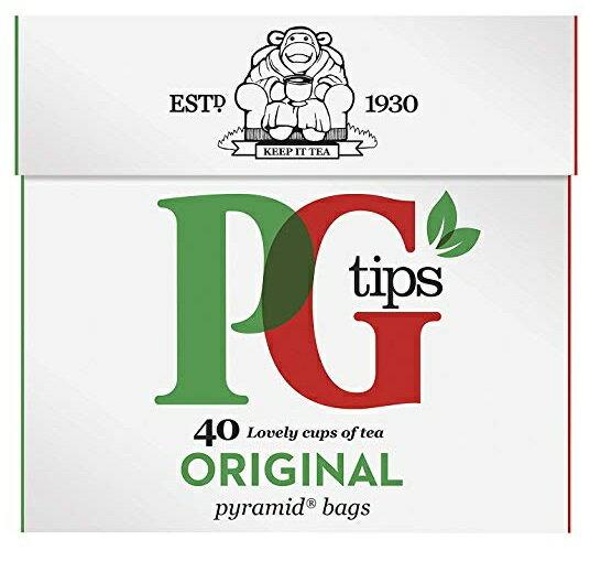 英国紅茶PG TIPS ピージーティップス ピラミッド型 ティーバッグ 40袋入