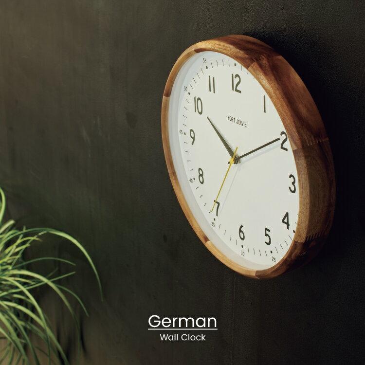 【インターフォルム公式】 【送料無料】 German ジェルマン 壁掛け時計 | 掛け時計 電波時計 電波 おしゃれ かわいい 北欧 ミリタリー インテリア 壁時計 ウォールクロック シンプル ナチュラル リビング ダイニング 寝室 メンズ 一人暮らし お祝い ギフト 新築 木製