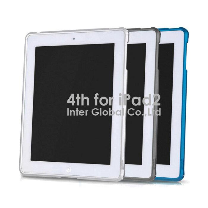 【タイムセールクーポン】 ipad2 ケース バンパー アルミ メタルバンパーケース ジュラルミン アルマイト シルバー チタン ブルー 超軽量 (96.5g) 高剛性 4thdesign iPad2 アイパッド 正規品 海外ブランド オリジナル