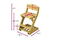 (送料無料)学習チェア木製子供椅子キャスター付ダイニングチェアブラウンホワイトダークライトハートお買い得商品