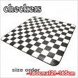 カーペット クッションフロア製 東リ 白黒市松模様 オーダーサイズ幅〜180cmまでX長さ121〜165cmまで