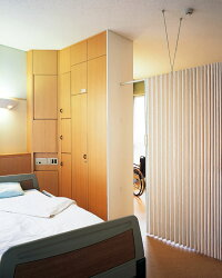 ニチベイアコーディオンカーテンやまなみマーク2フォーリア幅301〜335cmX高さ141cm〜180cmまで