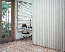 ニチベイアコーディオンカーテンやまなみマーク2スタッコ幅91〜125cmX高さ181cm〜200cmまで