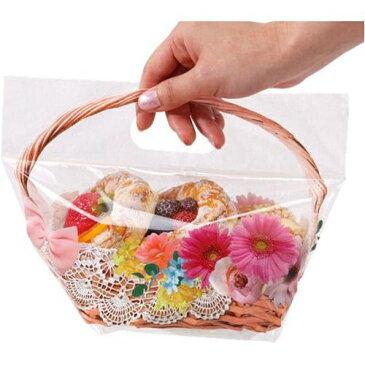 おすそわけバッグ マチ付きM14枚組ジップバッグ 整理袋 ビニール チャック付 お裾分け ピクニック お出かけ バラ 薔薇 ローズ フラワー レース カゴバッグ