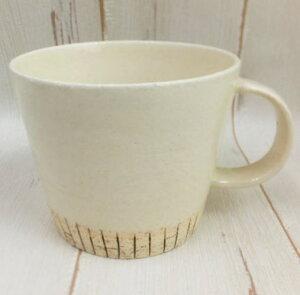 削りデカマグ ホワイト美濃焼 陶器 マグカップ 大きいサイズ スープ スープカップ 男性用 兼用 ギフト ラッピング無料