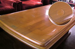 両面非転写テーブルマットBタイプ(非密着性タイプ)サイズ約1000×約2000mmすべり止めシール付【送料無料】
