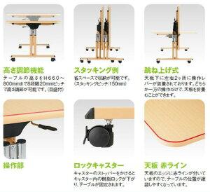オフィス家具TOKIO【MAT-1690】W1600×D900×H660~800福祉関連テーブル/会議室/オフィステーブル/業務用家具/テーブル/MAT1690/