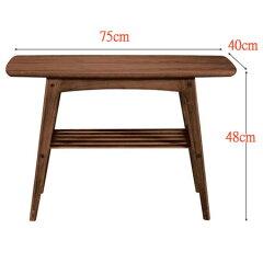 コーヒーテーブルトムテ幅75cm(センターテーブルサイドテーブル机送料無料)