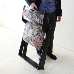 チェア折りたたみローチェアー木製背もたれ付和泉座面高35cm